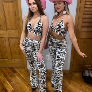 zebra two-piece set